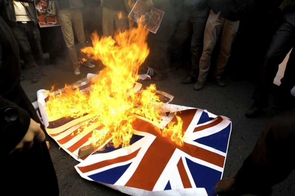UK blasts Tehran over 'outrageous' embassy attack
