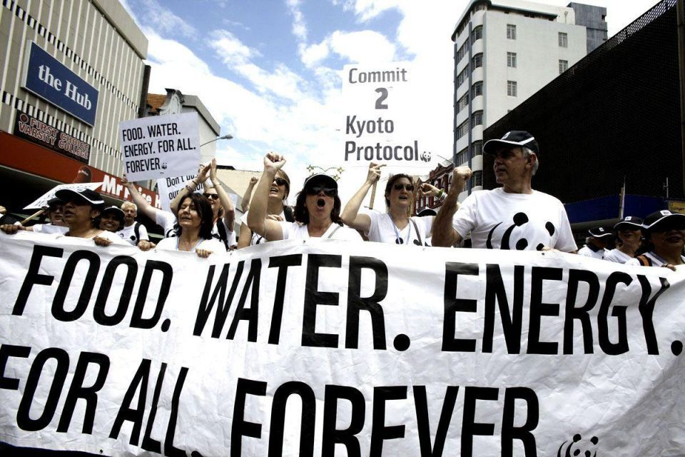 Thousands march to demand action on climate change