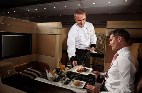 Etihad launches five-star food service in first class