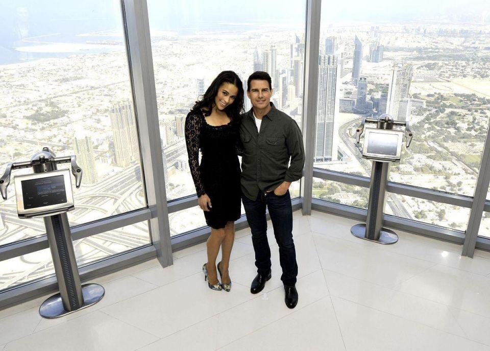 Tom Cruise unveils Mission Impossible 4 in Dubai's Burj