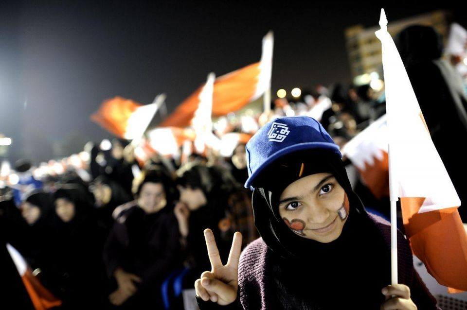 Leading Bahrain activist beaten during protest rally