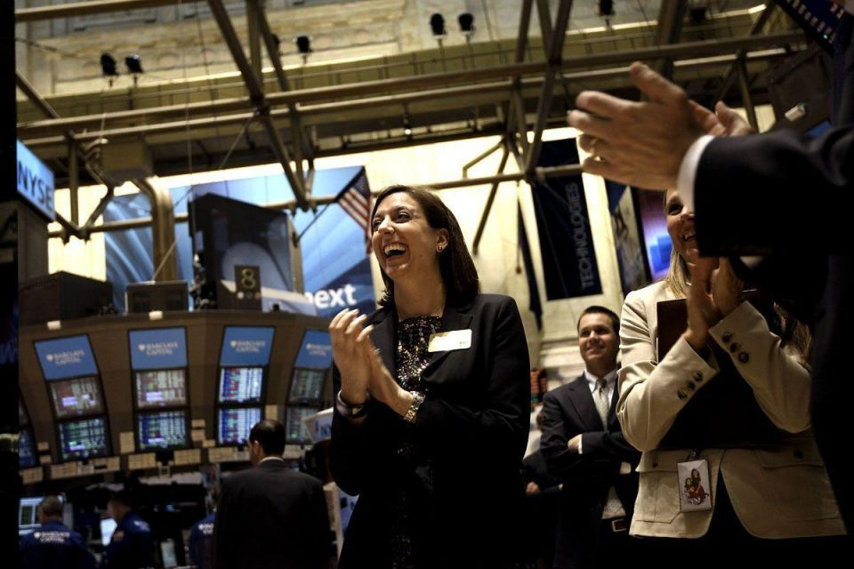 Dow Jones breaks through 13,000 for first time since crunch