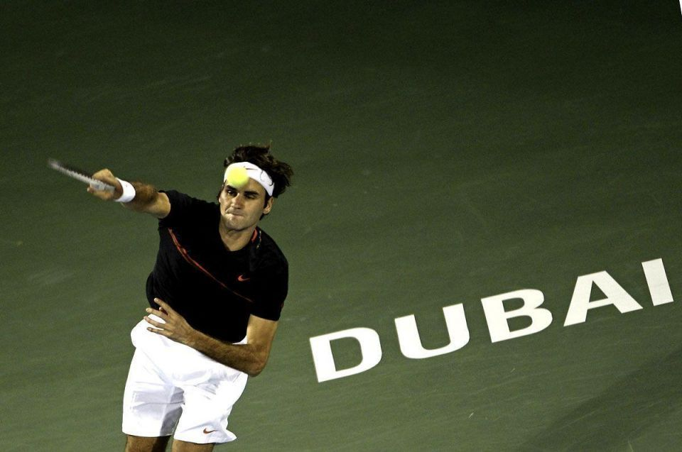 Federer wins Dubai Tennis Championships final