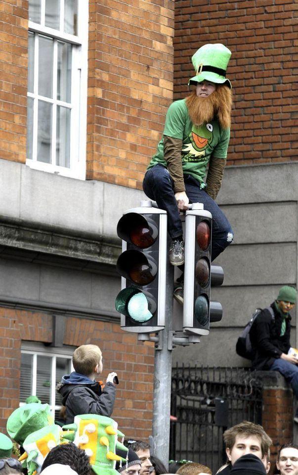 St Patrick's day celebrated in Dublin