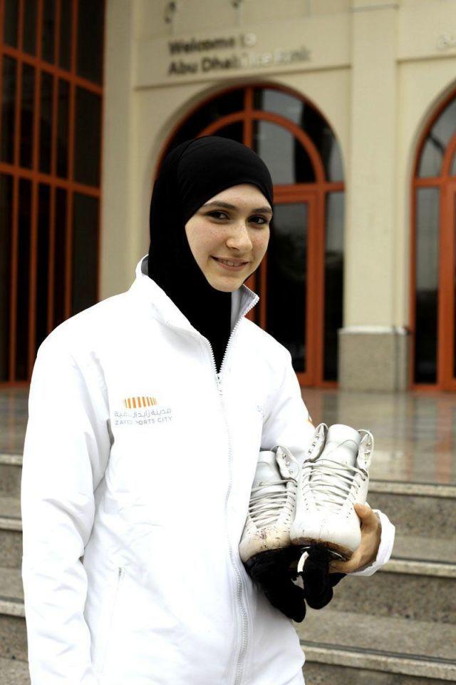 Emirati teenager set to make history at ice-skating comp