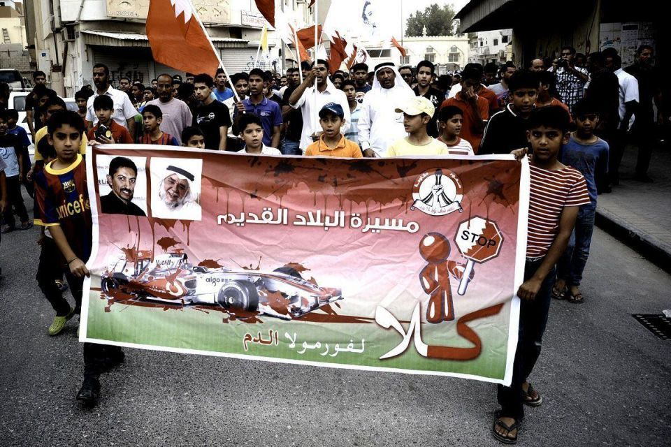 Violence breaks out on eve of Bahrain Grand Prix