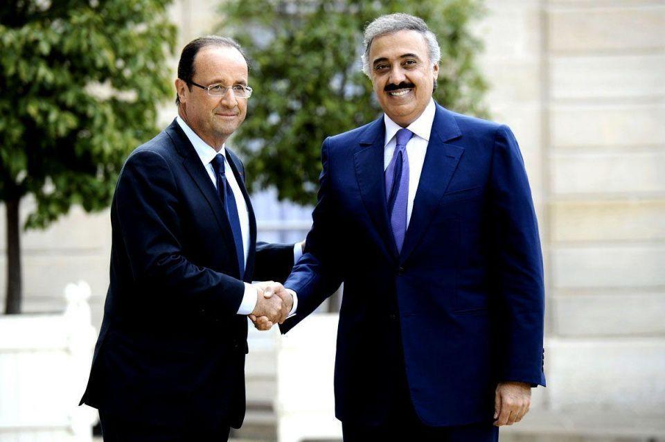 Saudi prince Mitaeb bin Abdallah meets French president