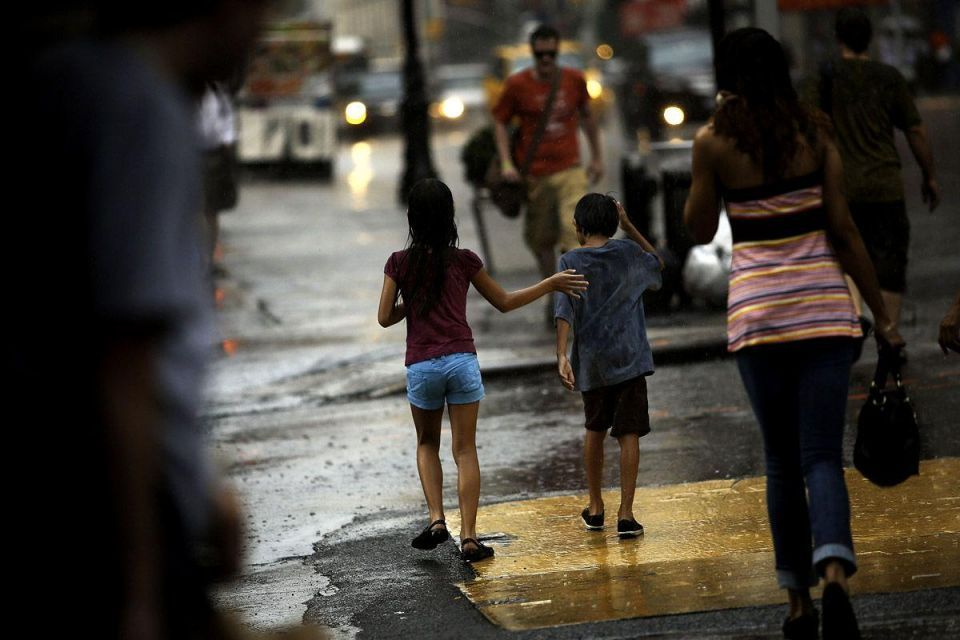 Thunderstorms erupt after three-day heat wave in New York