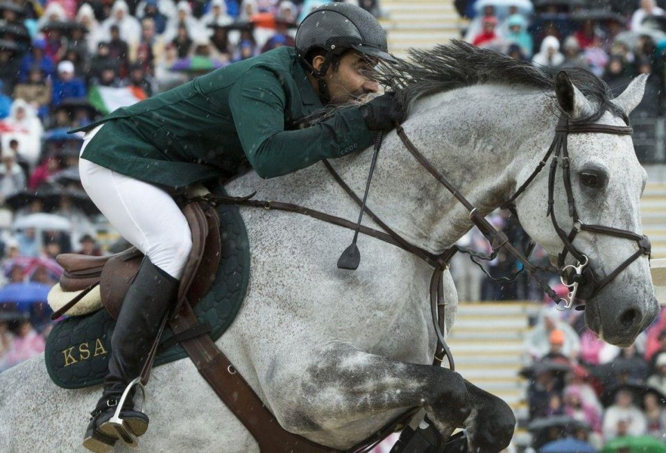 Saudi team leads Olympics equestrian event