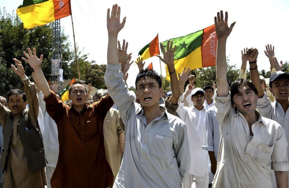 Shi'ite Muslims protest in Pakistan