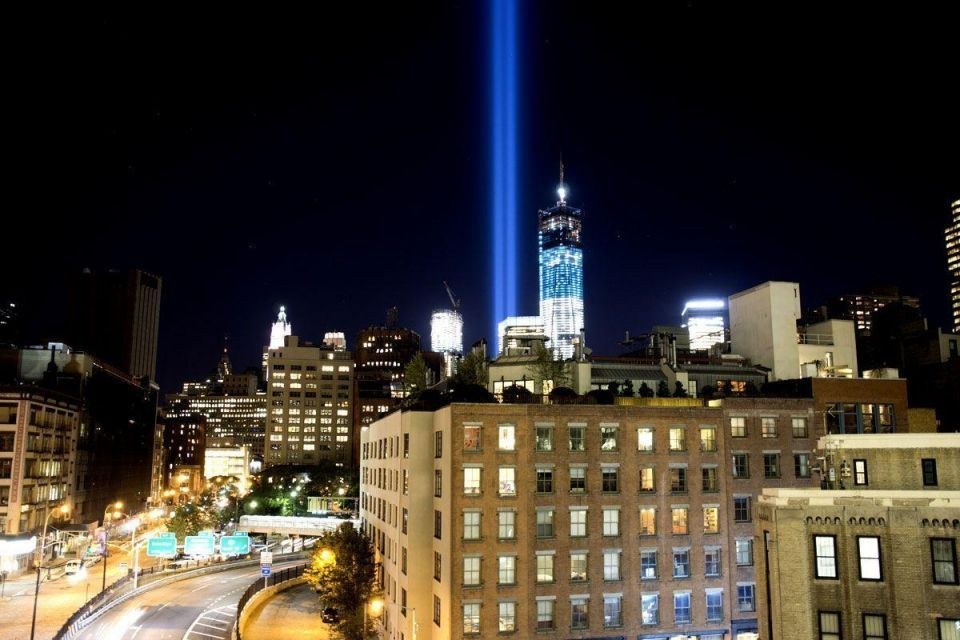 "New York City's ""Tribute In Light"" is tested night before 11 September anniversary"