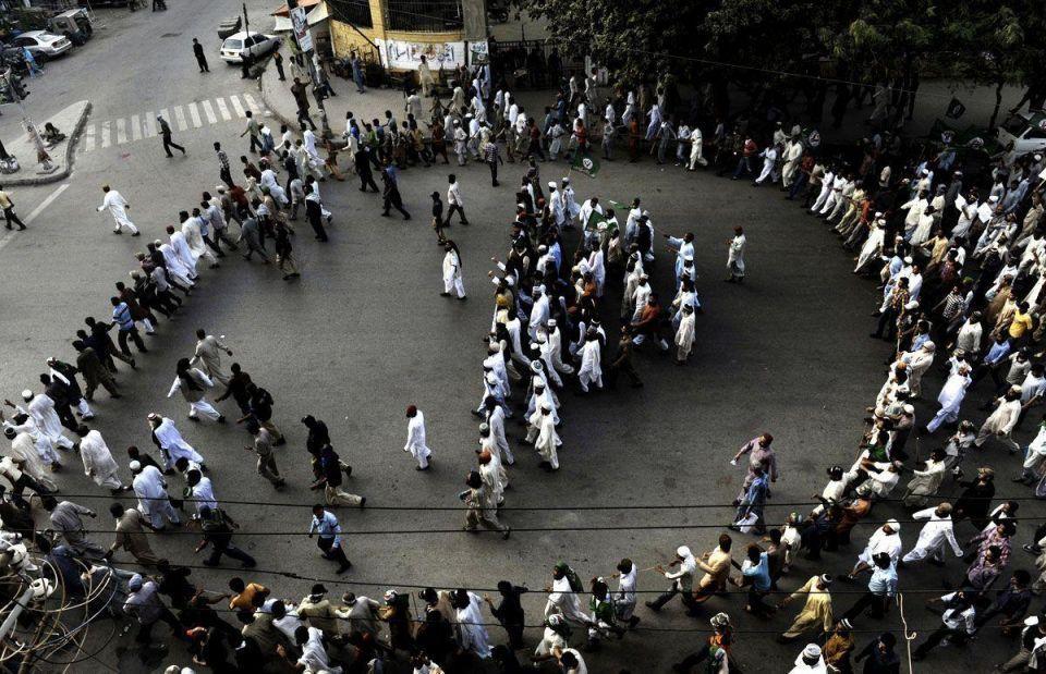 Pakistanis protest against film in Karachi