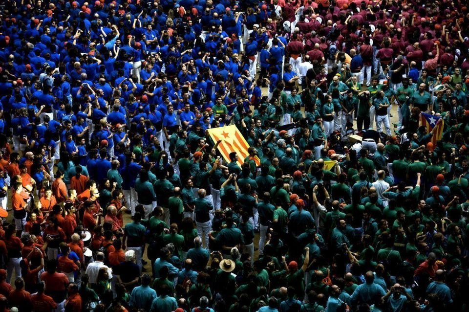 """""""Human Towers"""" built in traditional Spanish contest"""