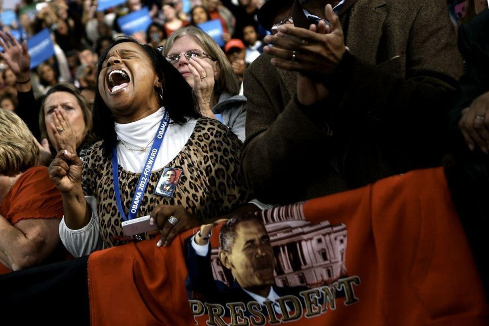 Obama campaigns throughout Ohio
