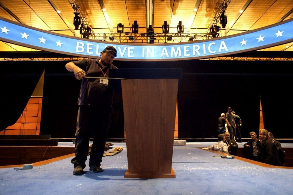 Romney campaign prepares for election night event