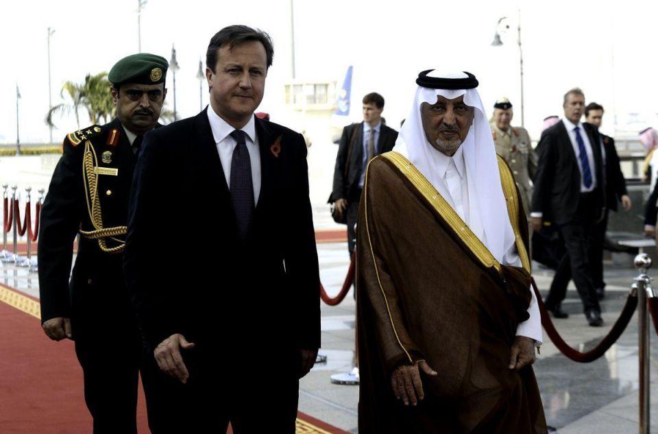 UK PM David Cameron in Saudi Arabia