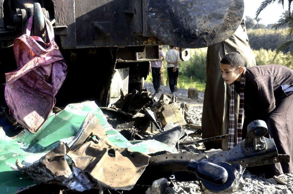 Over 40 children die in Egypt as train collides with school bus