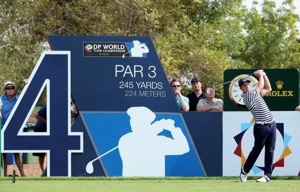 Golfing stars in action at Dubai World Championship