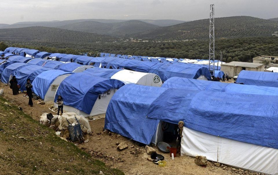 Daily life in a Syrian refugee camp