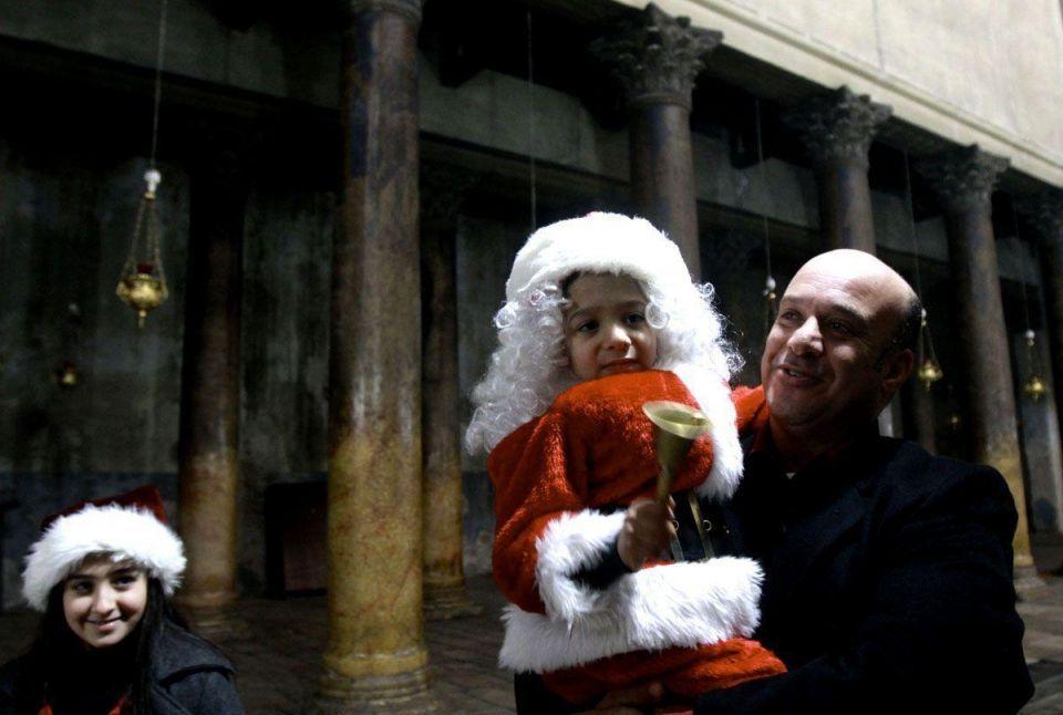 Orthodox Christian Palestinians celebrate Christmas