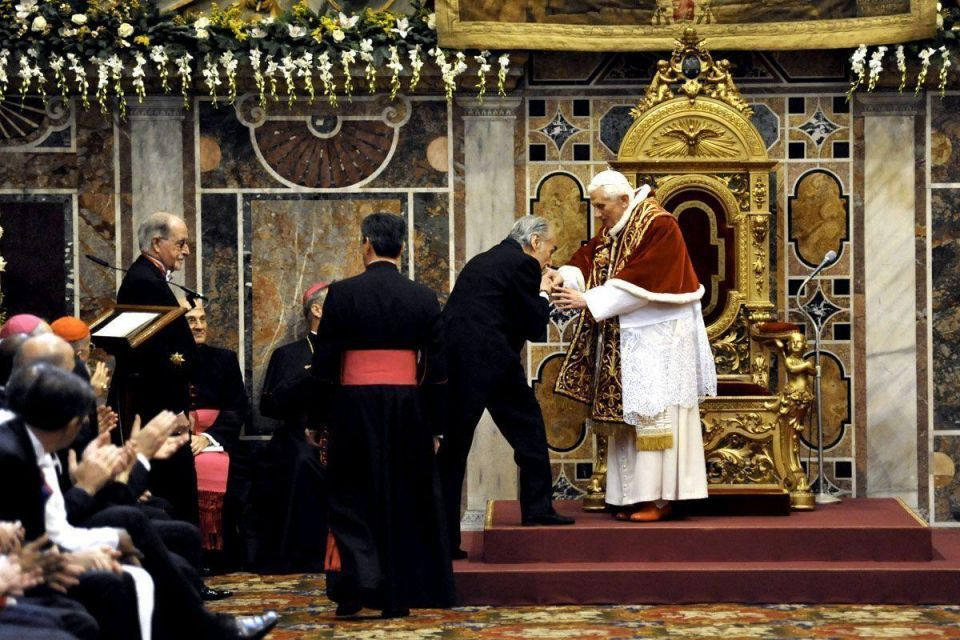 Pope Benedict XVI gives state of world address