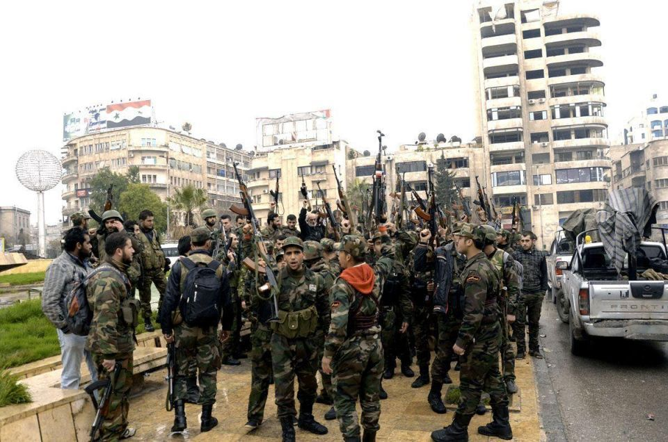 Syrian government forces clash with rebels in Aleppo