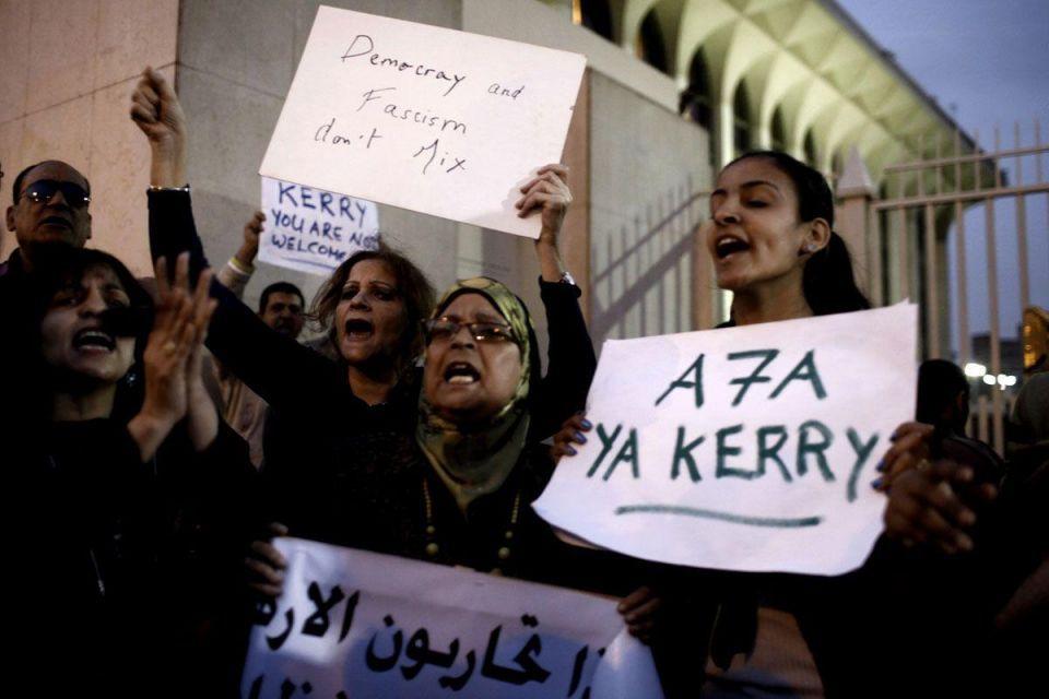 US Secretary of State John Kerry visits Egypt