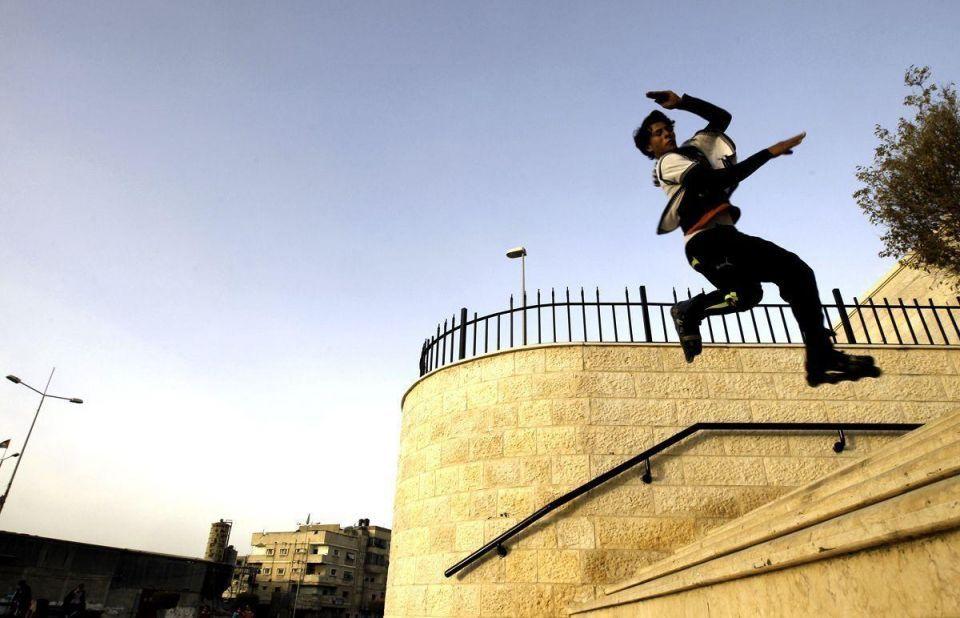 Roller skating in the Gaza strip