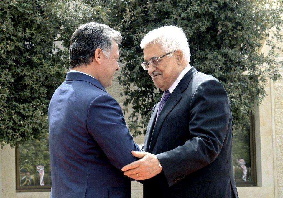 Jordan's King Abdullah meets Palestinian Authority's Mahmoud Abbas