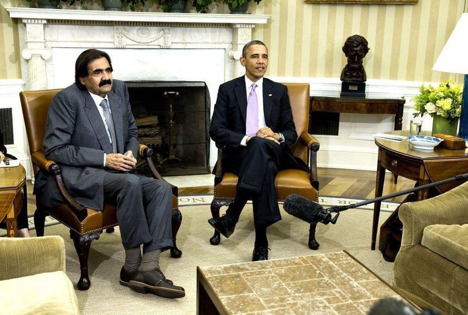 Qatari Emir meets Barack Obama in Washington