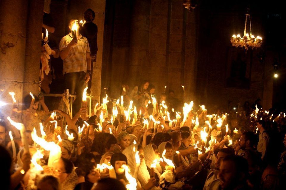 Orthodox Christians flock to Holy Fire ceremony
