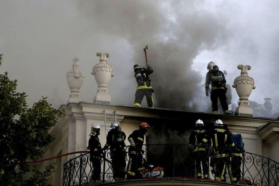 Qatari prince's Paris mansion goes up in flames