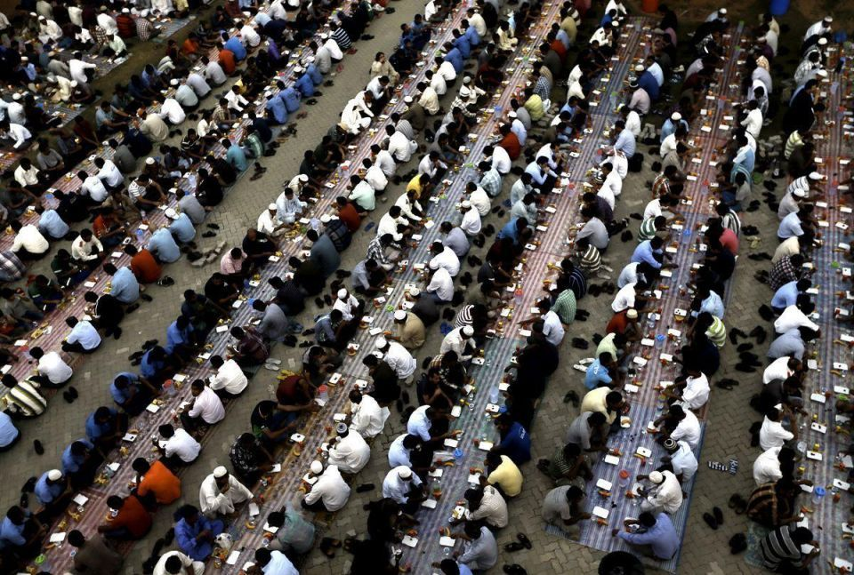 Migrant workers' free iftar