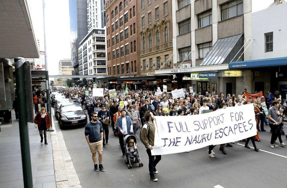 Protesters support asylum seekers