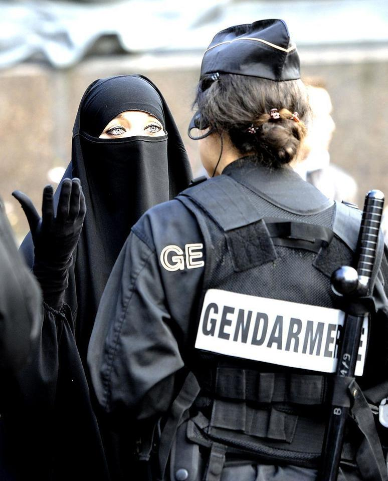 Clashes over French veil ban