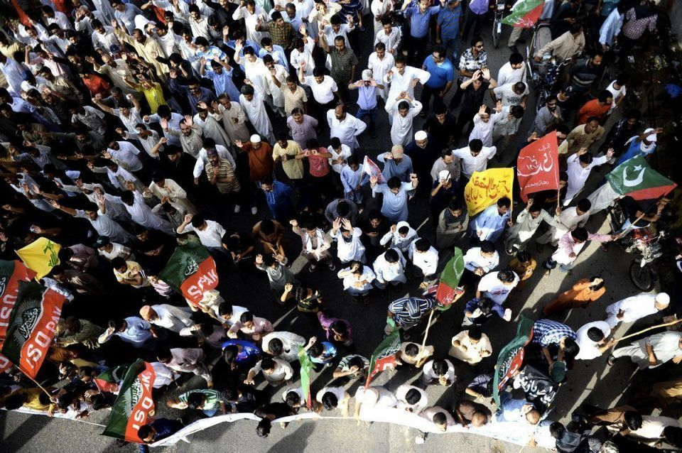 Pakistanis protest over shrine attack