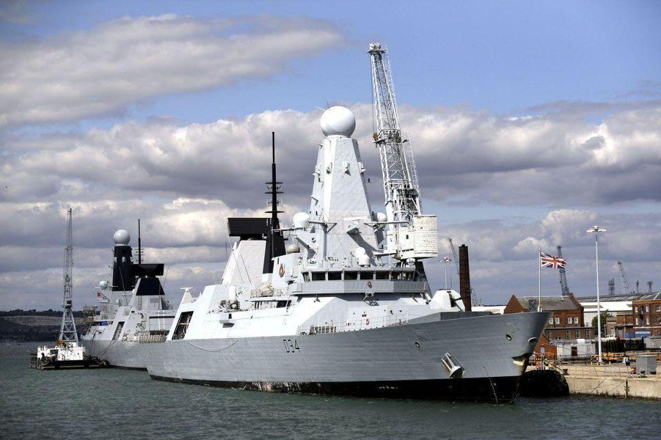 Royal Navy warships set sail for training exercise