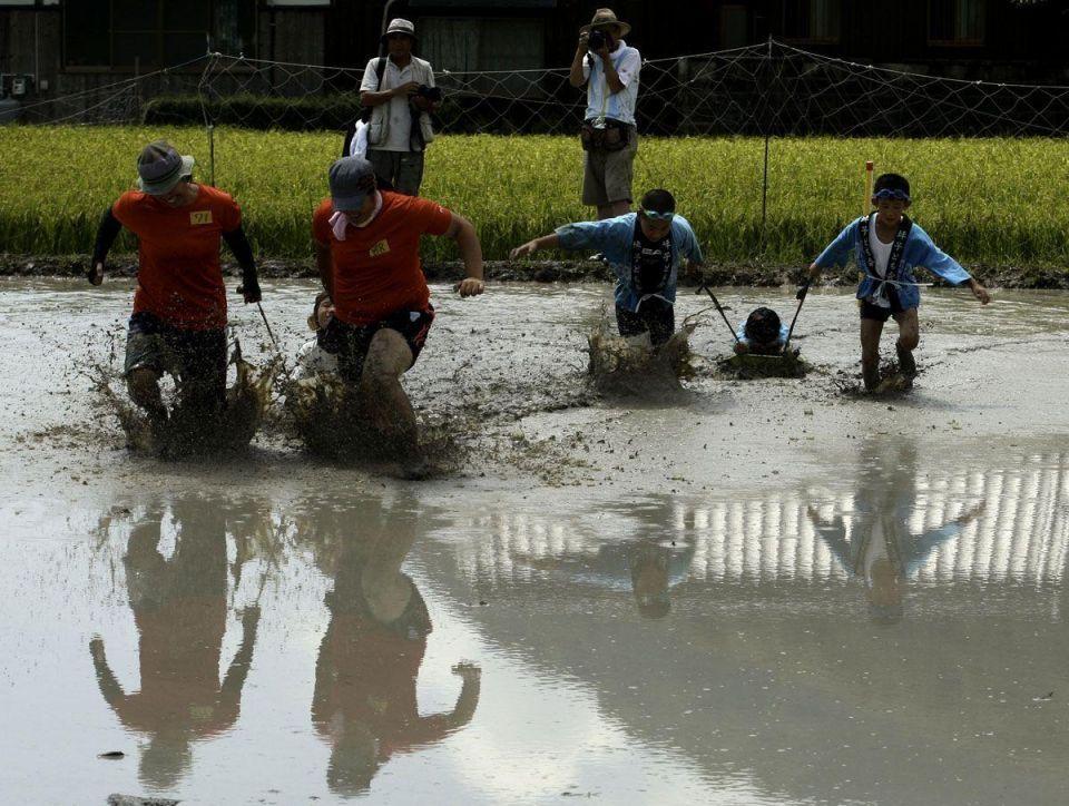 Himeji mud festival