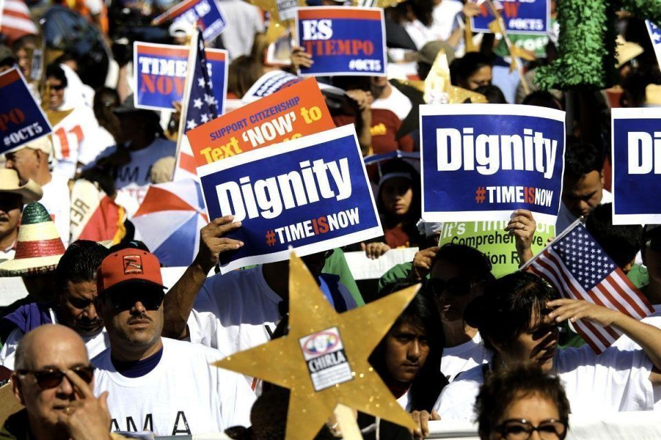 US immigrants march for respect