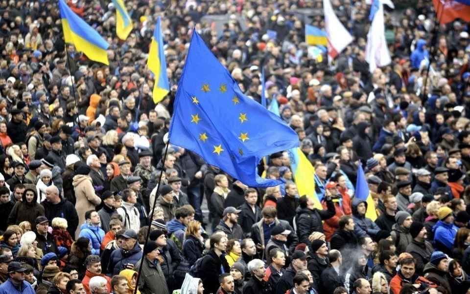 Ukrainians rally in favour of EU