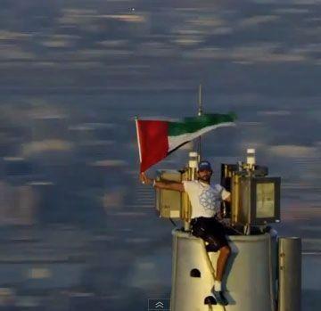 Video: Dubai Crown Prince celebrates Expo win atop Burj Khalifa
