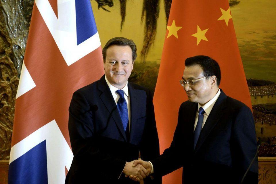 British PM visits China