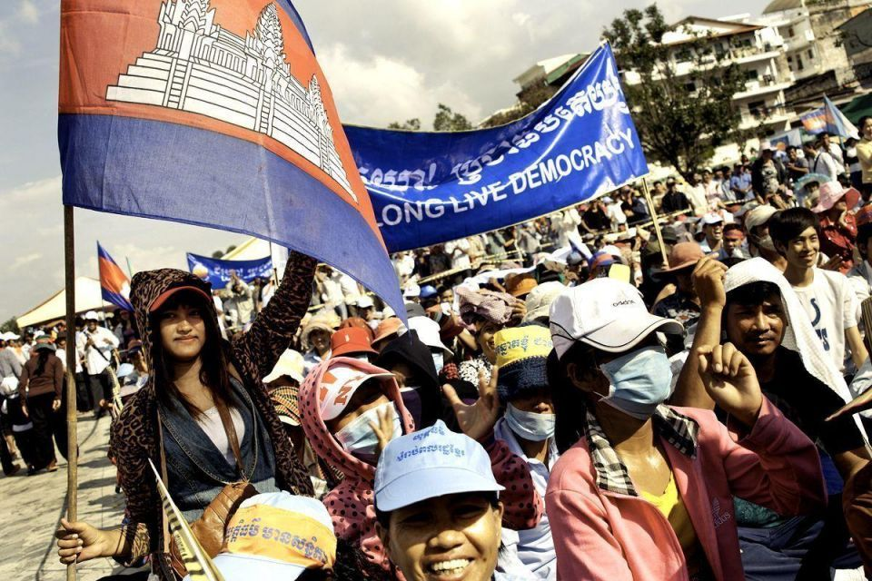 Lengthy protests begin in Cambodia