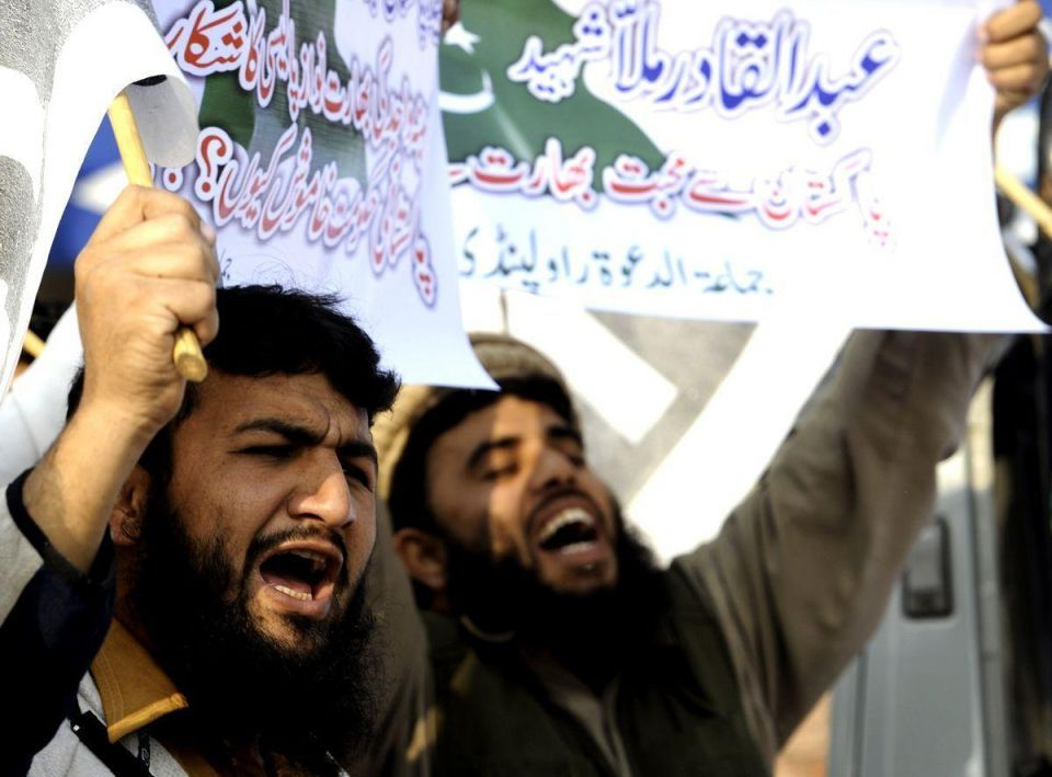 Execution protests in Pakistan