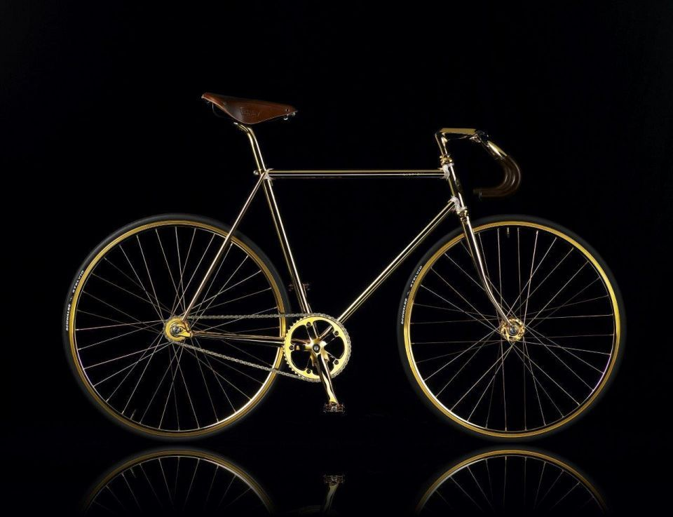 The most expensive gold bike in the world