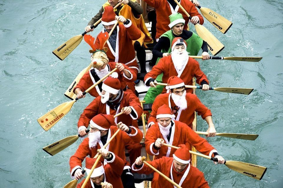 Christmas Regatta on Venice's Grand Canal
