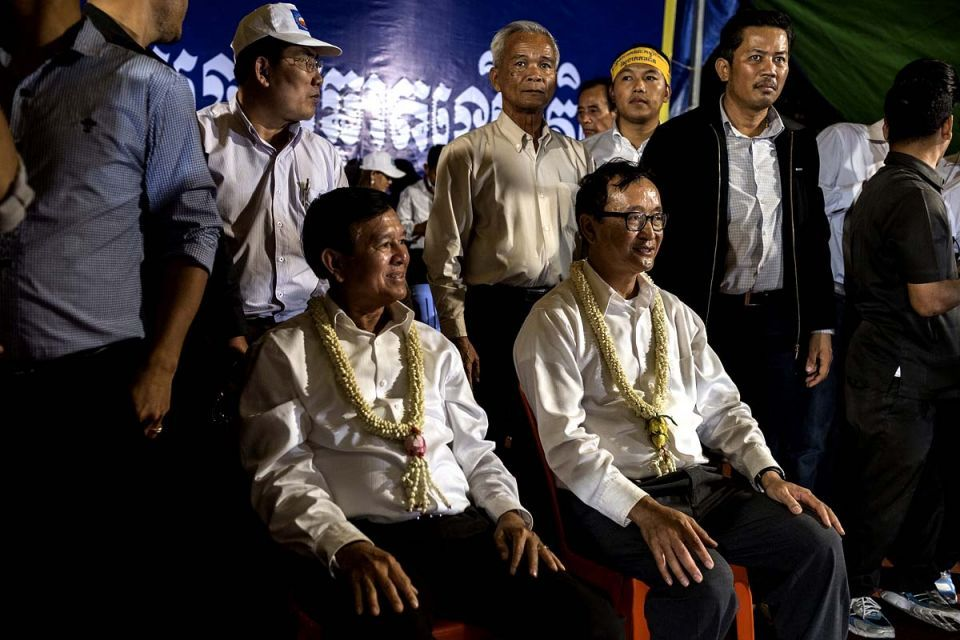 Cambodian opposition calls for re-elections