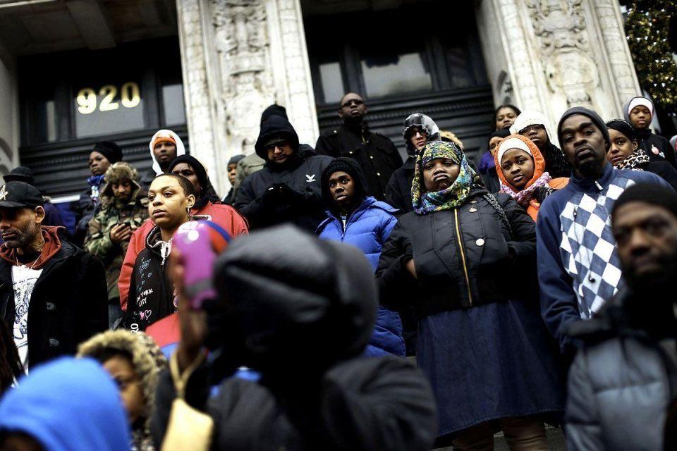 Families march against violent crime