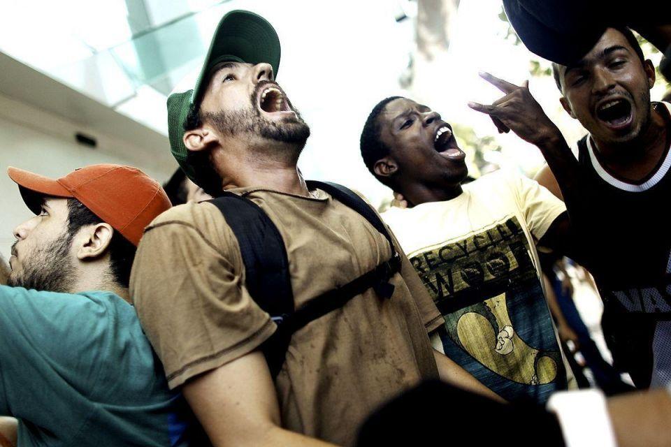 Brazilian youth on flash mob rampage