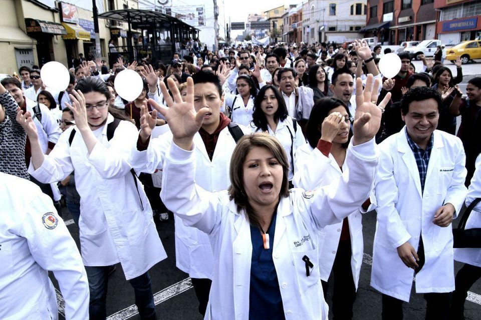 Ecuadorian health protests